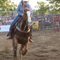 Barrel Racing at the Alvinston Pro Rodeo
